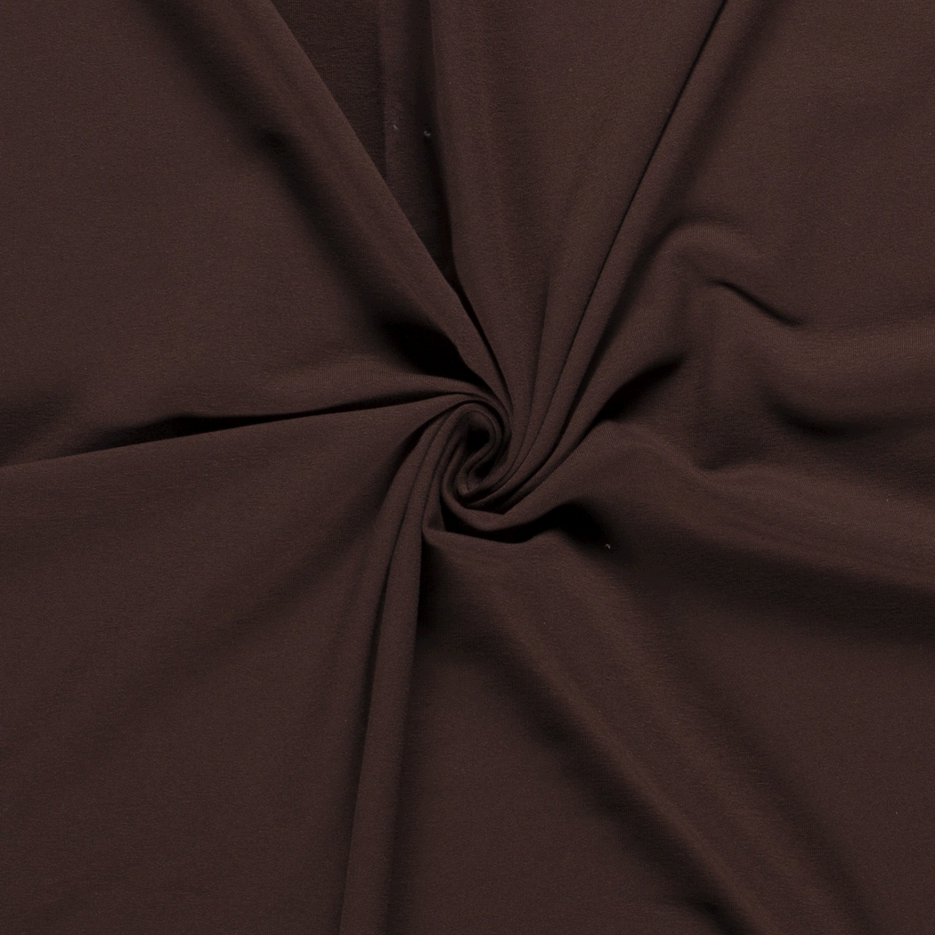 Stretch French Terry, Dark Brown