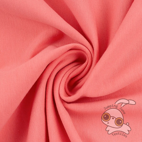 Stretch French Terry, Coral *Limited Spring Collection*