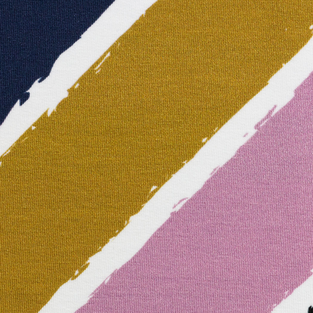 Lycklig Diagonally Stretch French Terry, Ochre-Rose