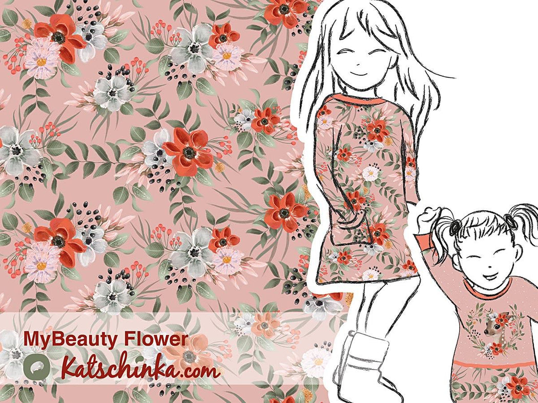 My Beauty Flower Organic Stretch French Terry