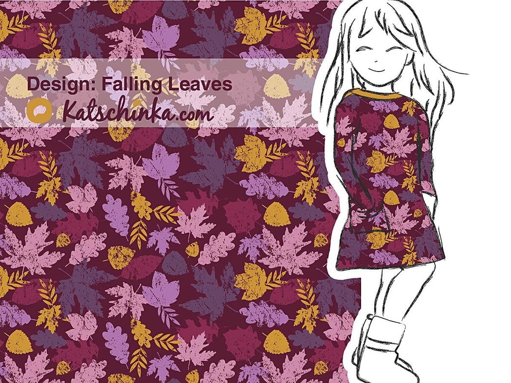 Falling Leaves Organic Stretch French Terry