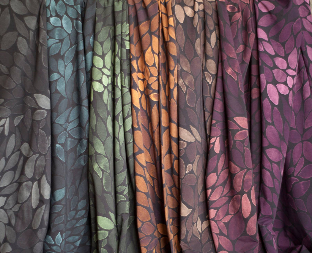 Color Leaves Mono Edition Organic Stretch French Terry, Stone