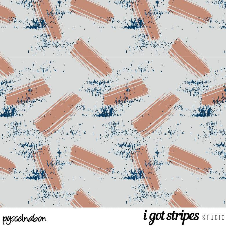 Blush Strokes Stretch French Terry by Pysselnabon
