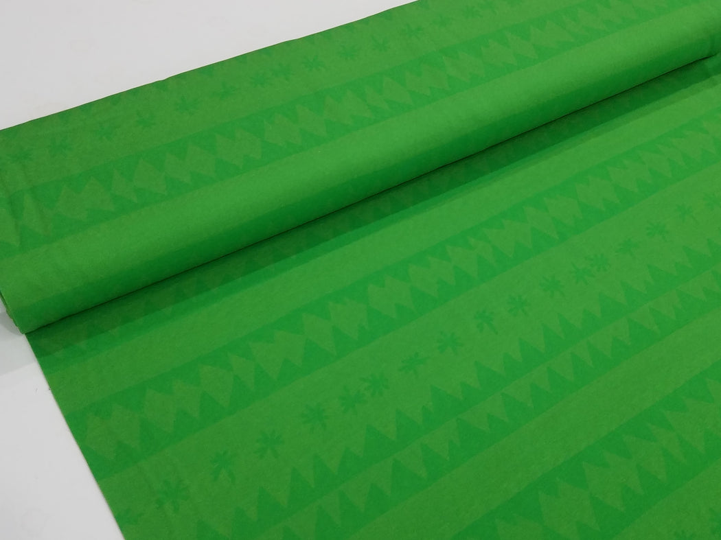 Zigzag Stars Organic Jersey, Green by Nygarda Textiles **Slight seconds quality