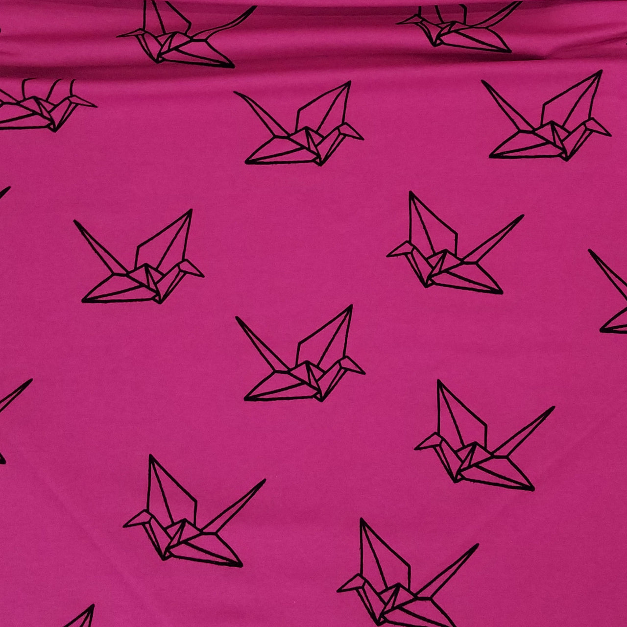Mono Origami Flocked Organic Jersey, Pink  by Albstoffe