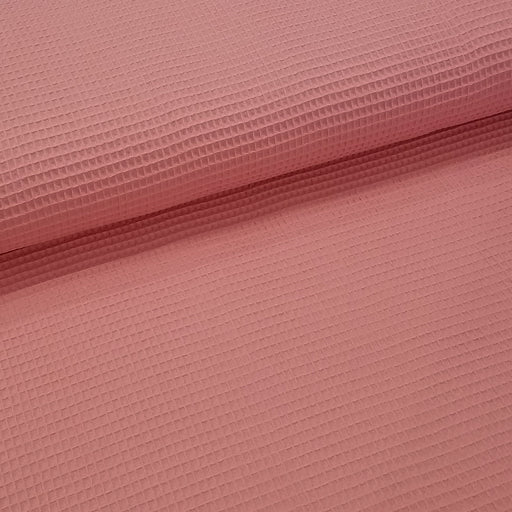 Waffle Cotton Woven, Coral Pink
