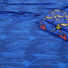 Distressed Denim Organic Jersey, Royal Blue by Jumping June Textiles
