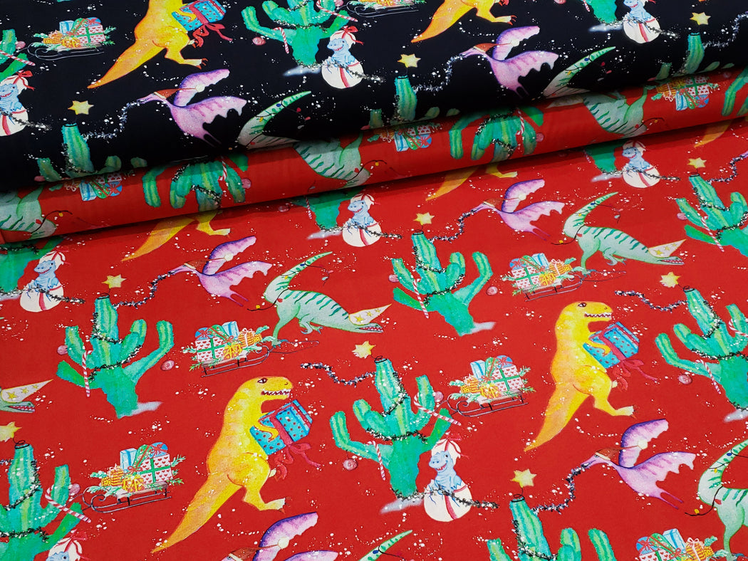 Christmas Chaos Organic Jersey, Red by Znok Design