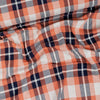 """Check Point"" Sinclair Organic Jacquard, Orange-Navy by Albstoffe"