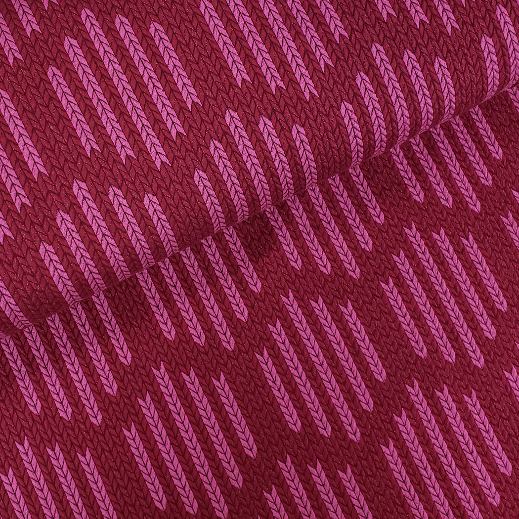 """Check Point"" Checklist Big Knit Organic Jacquard, Burgandy-Pink by Albstoffe"