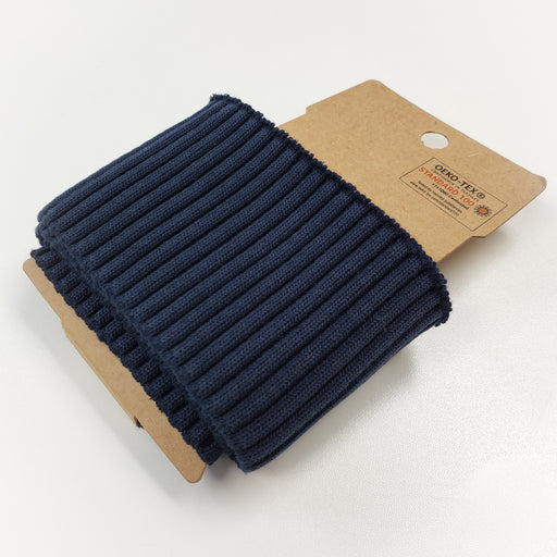 Cozy Ribbed Sweater Cuff, Dark Navy