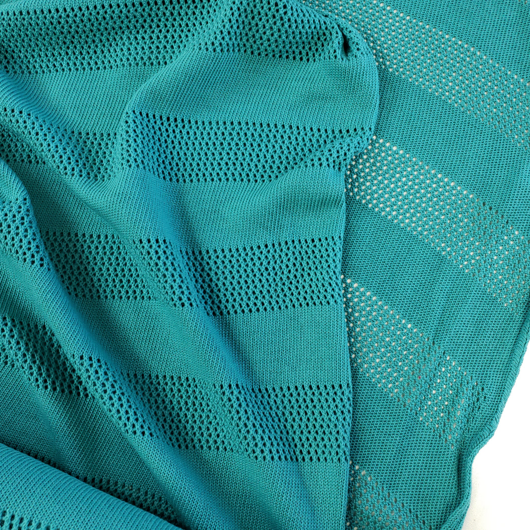 Bliss Stripe Knitty Organic Jacquard, Col 1: A71 Turquoise