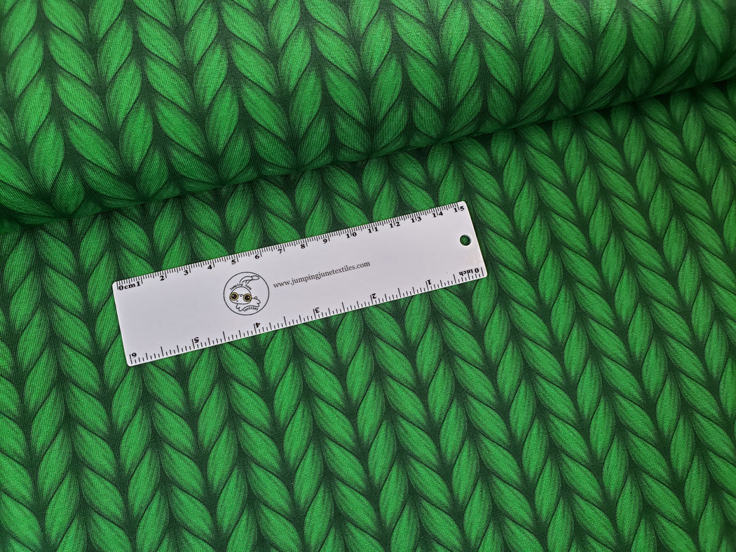 Plain Stitches Lookalike Organic Jersey, Col 6 Green
