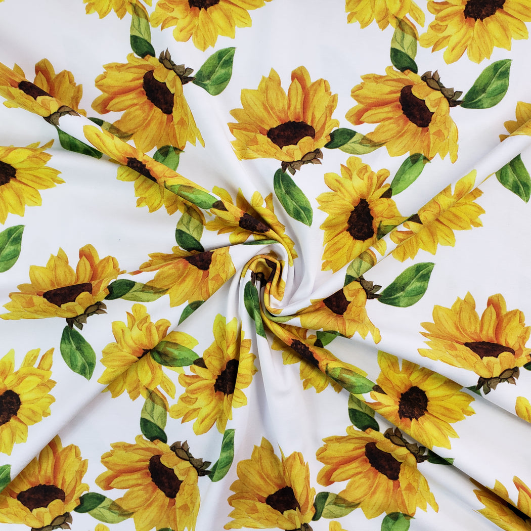 Sunflowers Jersey, White