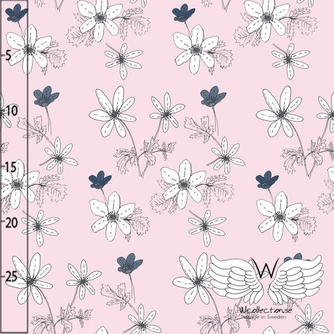 Anenome Floral Jersey, Pink by Wcollection