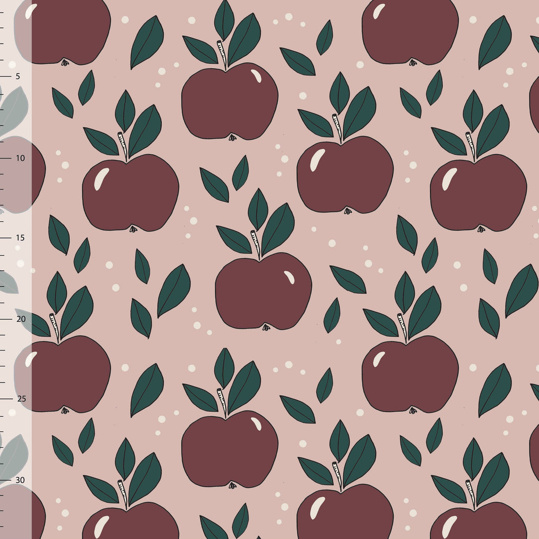 Apples Organic Jersey, Dusty Pink by Elvelyckan Design