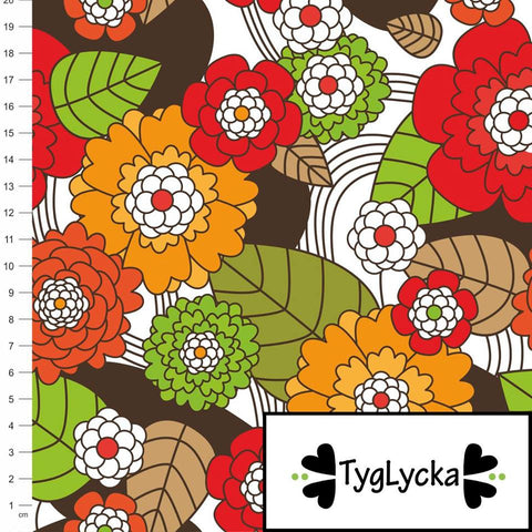 Autumn Flowers GOTS Jersey by Tyglycka