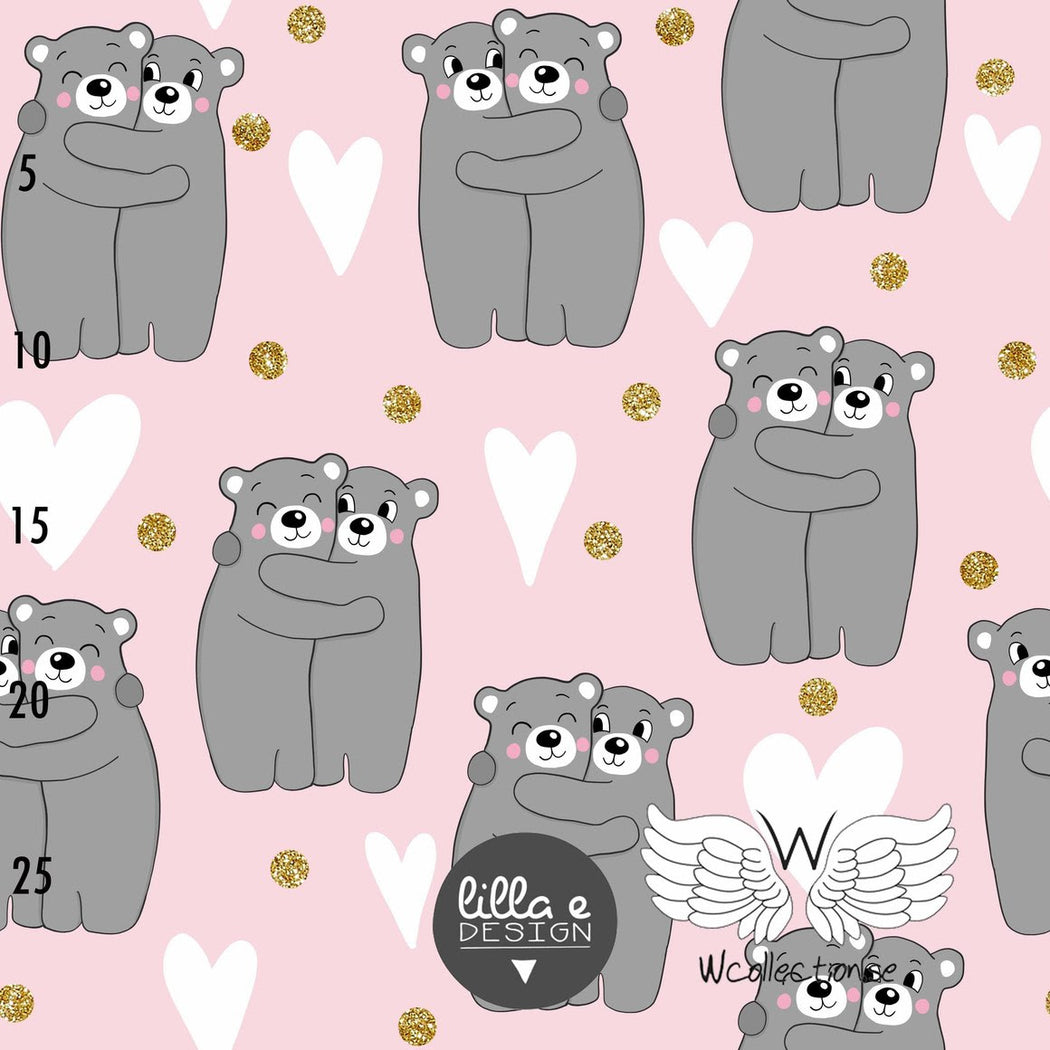 Bearhug Organic Jersey,  Light Pink by Wcollection