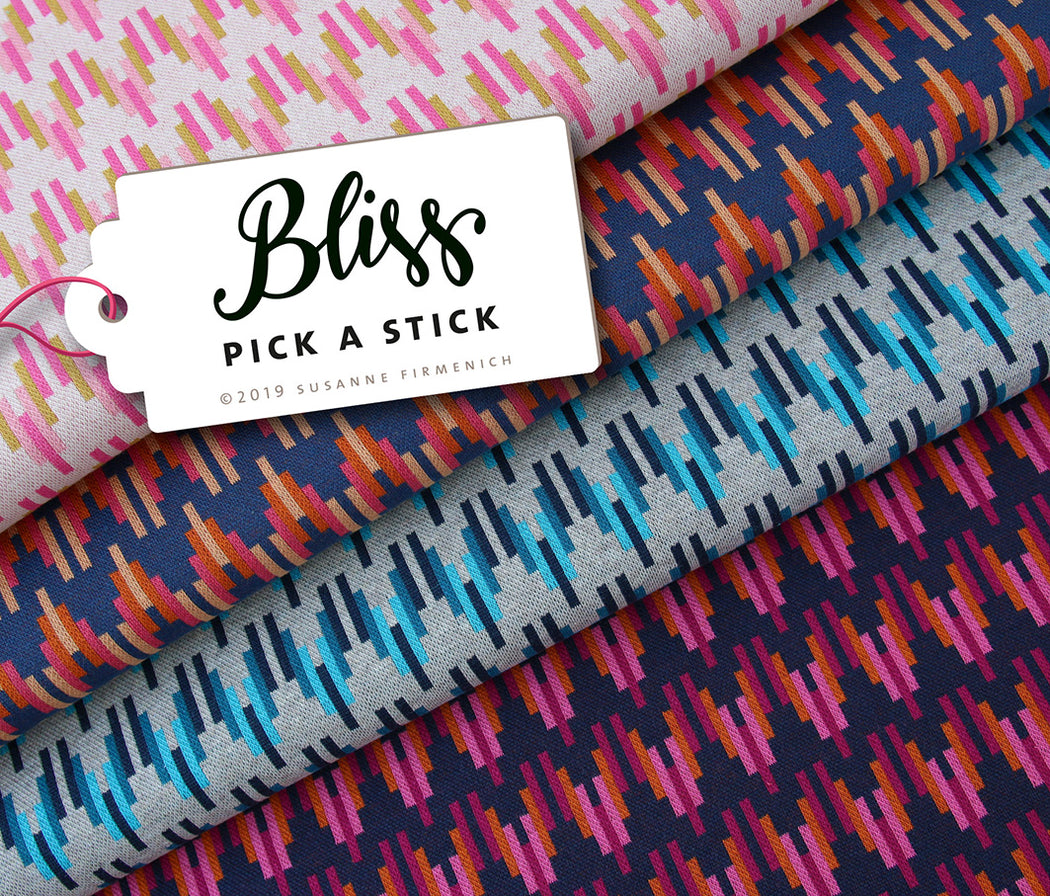Bliss Pick A Stick Organic Jacquard, Col 2 Blue-Rust