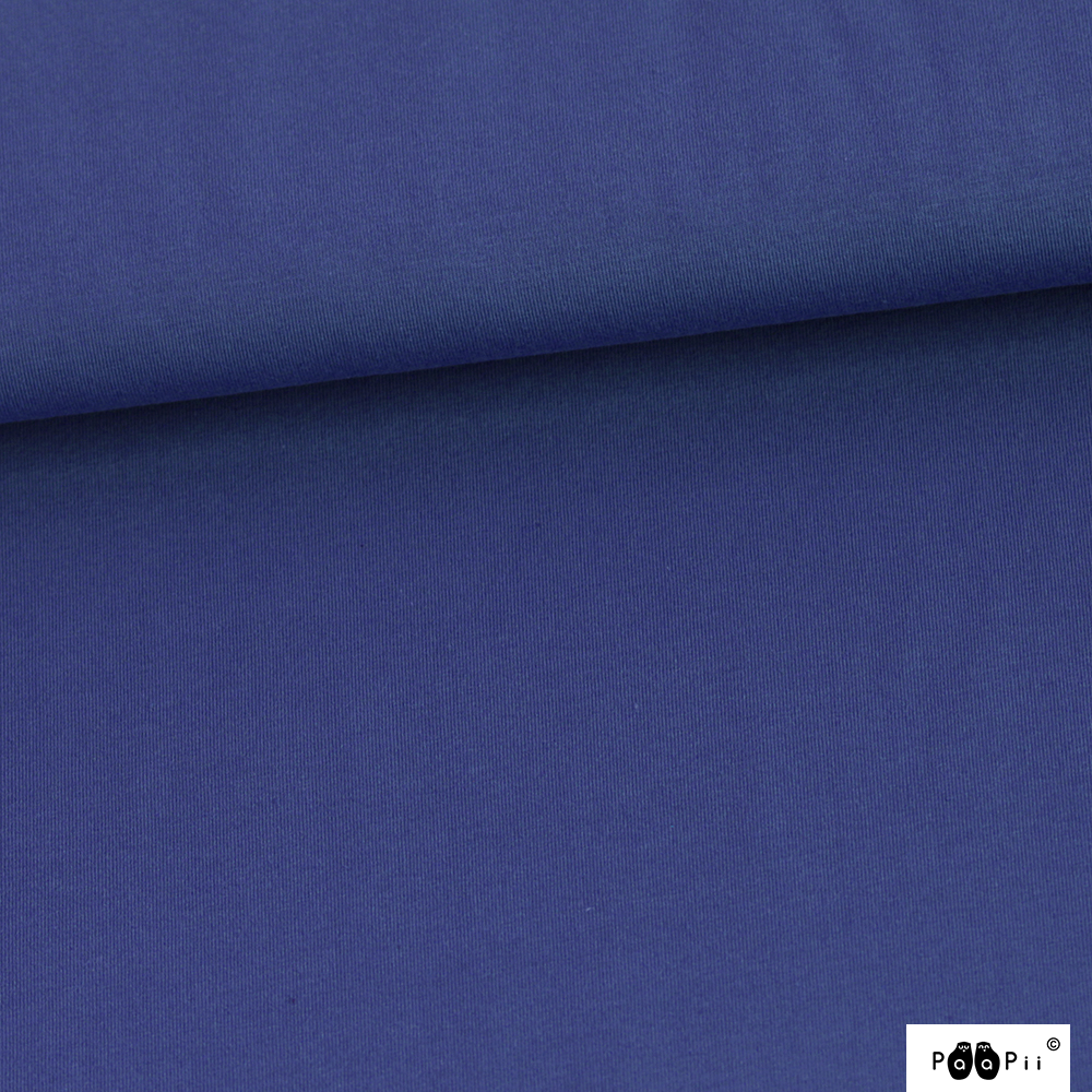 Organic Stretch French Terry Solid Blueberry