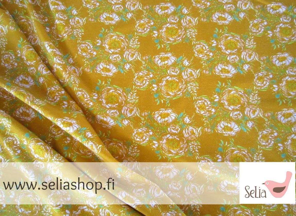 Bouquet Jersey, Mustard by Selia