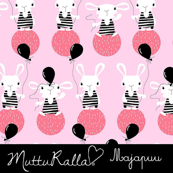 Bunny Balloon Jersey, Pink by Majapuu