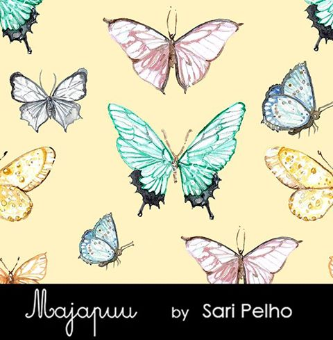 Butterflies Jersey, Yellow by Majapuu
