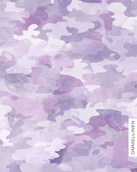 Camo Organic Stretch French Terry, Lavender by Ommellinen