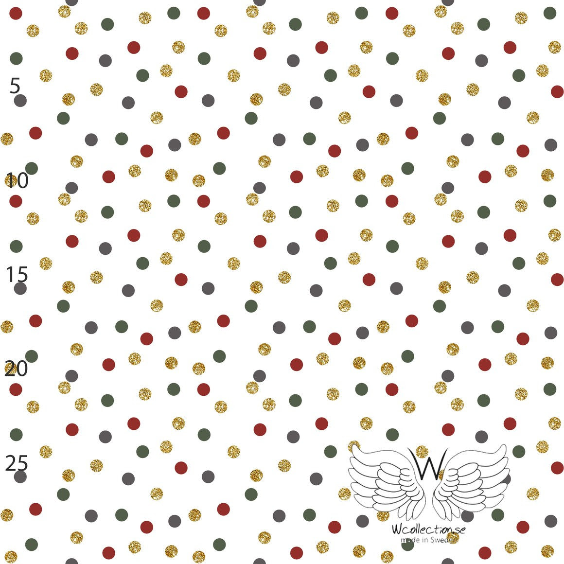 Christmas Dots Organic Jersey by Wcollection