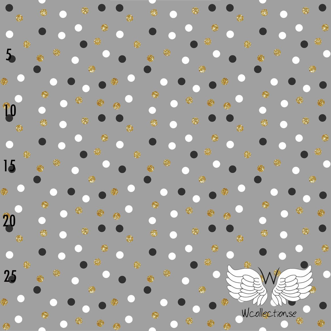 Confetti Glittery Dots Organic Jersey,  Gray by Wcollection