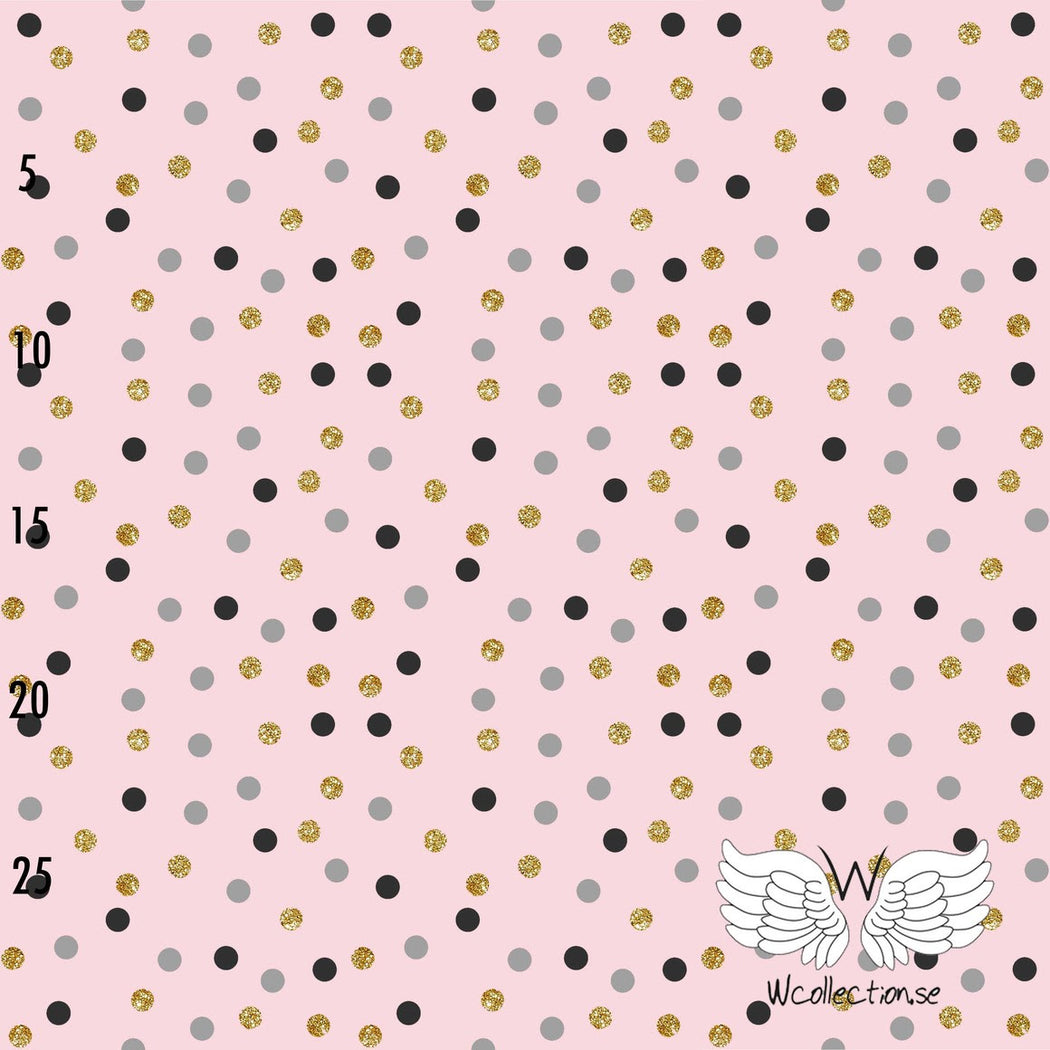Confetti Glittery Dots Organic Jersey, Light Pink by Wcollection