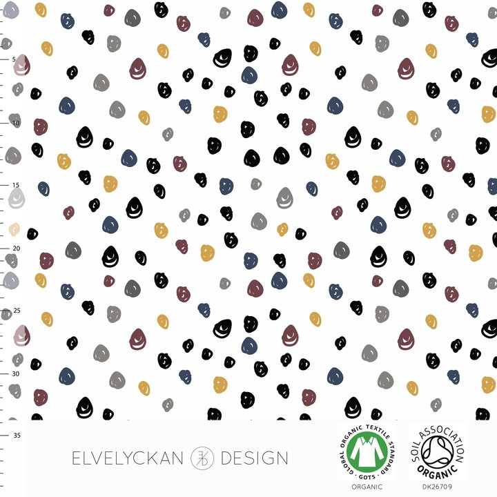 Confetti Winter Organic Jersey by Elvelyckan Design