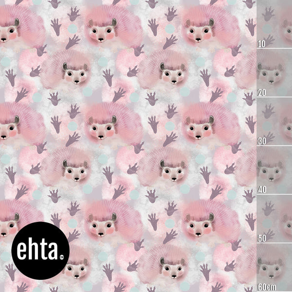Cotton Candy Organic Jersey, Pink by Ehta