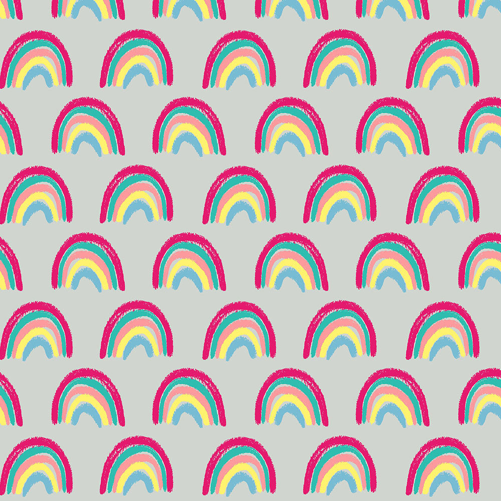 Crayon Rainbows Jersey, Gray by Ernst Textil
