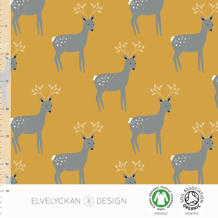 Deerly Organic Jersey, Gold by Elvelyckan Design