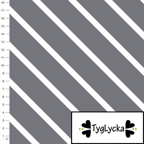 Gray Diagonal Stripes GOTS Jersey by Tyglycka