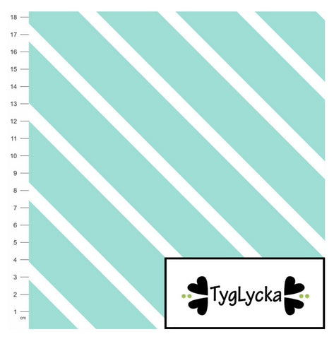 Mint Diagonal Stripes GOTS Jersey by Tyglycka