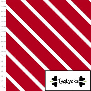 Red Diagonal Stripes GOTS Jersey by Tyglycka