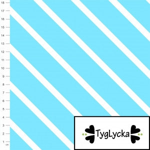Aqua Diagonal Stripes GOTS Jersey by Tyglycka