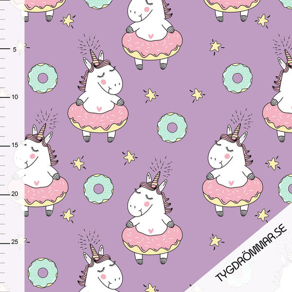 Donut Unicorns Organic Jersey, Purple by Tygdrommar