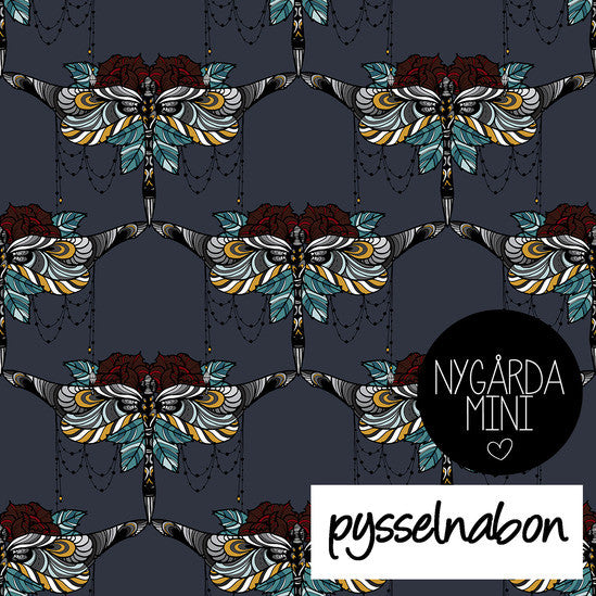 Dragonflies & Roses Jersey by Pysselnabon  (slight seconds quality)