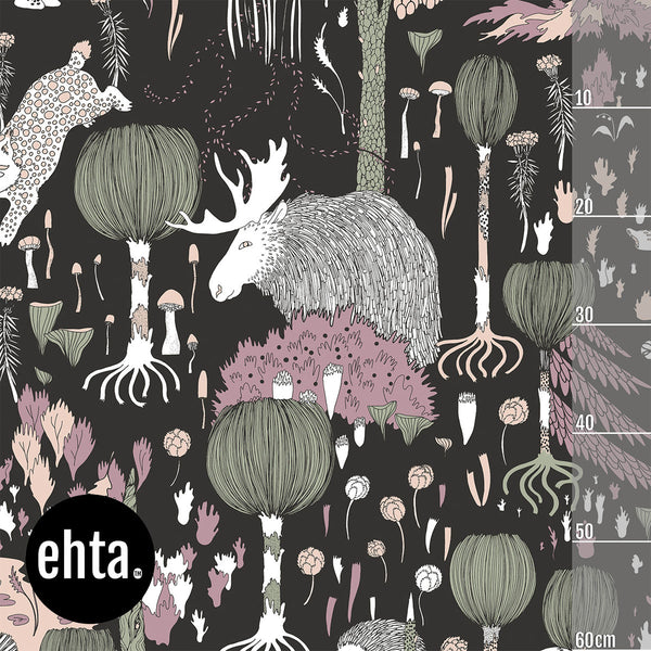Fairytale Forest Organic Jersey, Dark Gray by Ehta