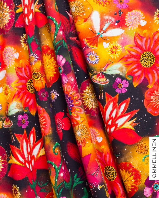 Flower Fairies Organic Jersey, Red by Ommellinen