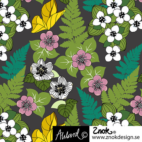 Flowers of the Forest Jersey Gray, by Znok Design
