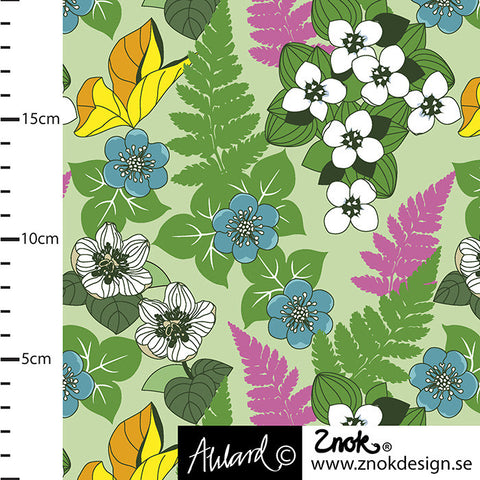 Flowers of the Forest Jersey Green, by Znok Design