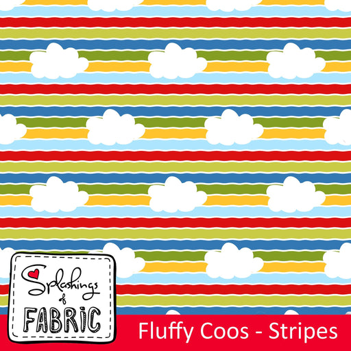 Fluffy Coos Stripes Organic Jersey