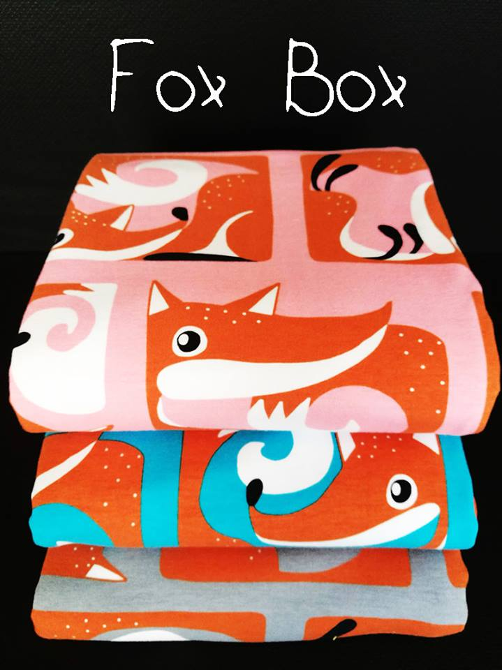 Fox Box Organic Jersey, Turquoise by Majapuu