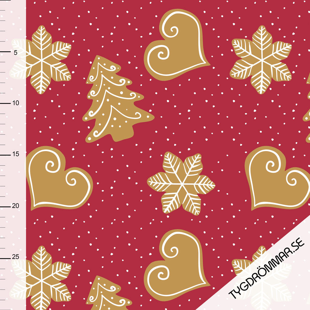 Gingerbread Organic Jersey, Red