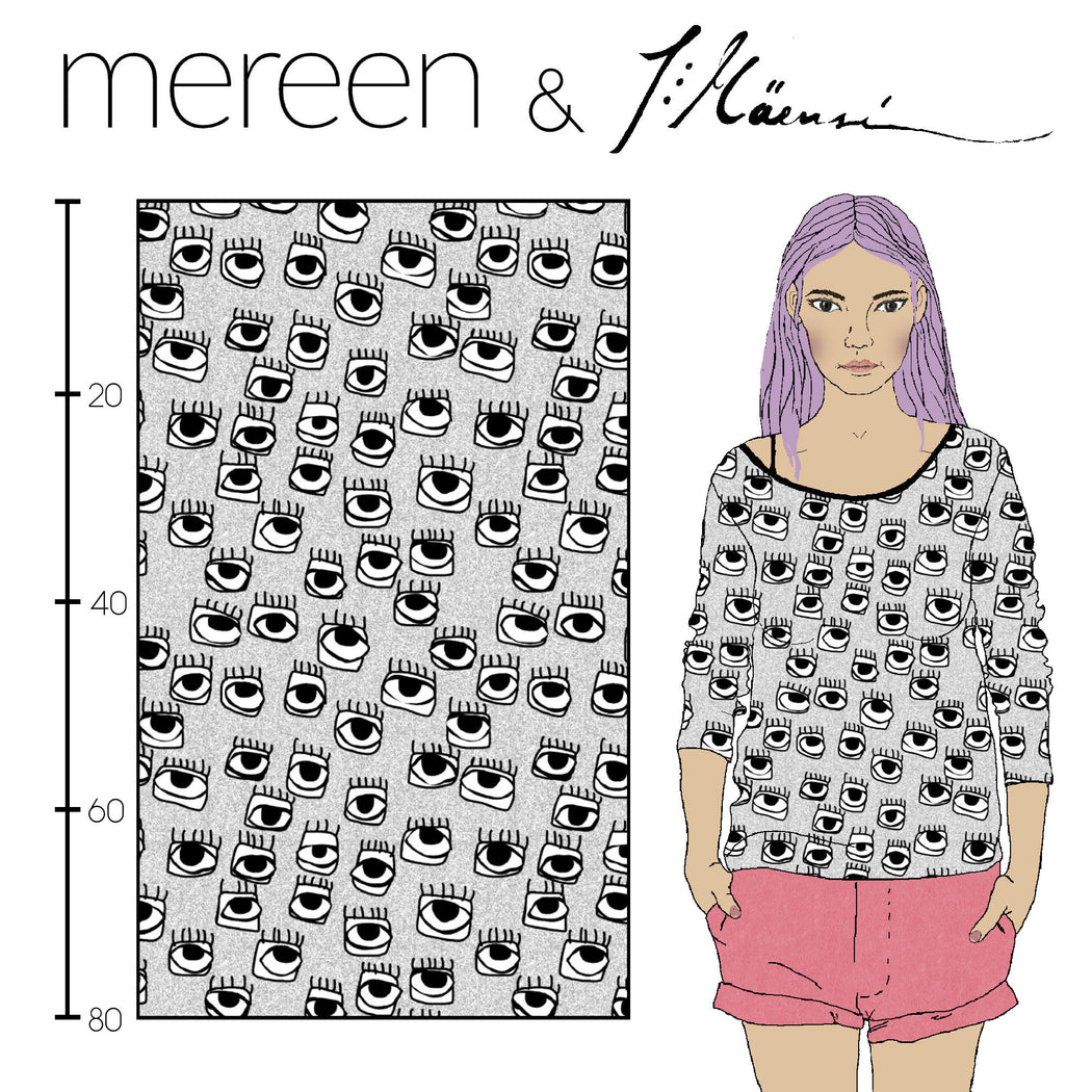Glances Organic Jersey, Gray by Mereen-Kapynen