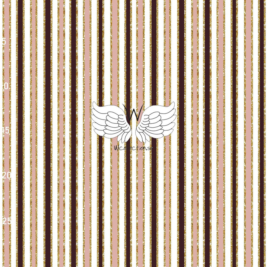 Vertical Stripes Organic Jersey, Dusty Pink-Wine by Wcollection